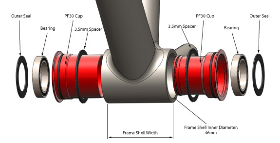 Specialized Carbon OSBB Exploded View